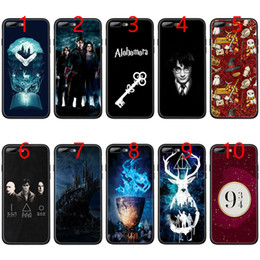 iphone harry potter Promotion Coque en TPU Black douce Harry Potter et les Reliques de la mort