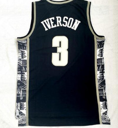 uomini di indossare college Sconti College 2018 nuovi uomini Georgetown 33 Patrick Ewing White magliette in jersey di pallacanestro, Sconto Iverson 3 Popular Sport Trainers Abbigliamento da basket