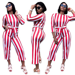 b8f8c10bc016c 2018 Long Sleeve Jumpsuits Rompers fashion sexy striped strap zipper  jumpsuit Casual 2 piece set women clothes Bodycon Bandage bodysuits sexy  fashion ...