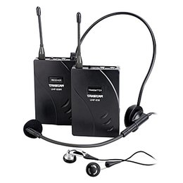 Wholesale transmitter receiver tour guide - One Set Takstar UHF-938  UHF 938 Wireless Tour Guide System UHF frequency wireless microphone Transmitter+Receiver+MIC+earphone