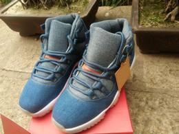 sportart jeans Rabatt Neueste preiswerte X 11 Denim Blue Basketball-Schuhe NRG 11s Jeans Weiße Zwischensohle OG-Stil Flug Designer Sport Sneakers für männliche Größe 8-13