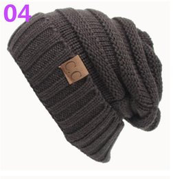 Wholesale Thanksgiving Sweater Men - 2017 hot sell European and American qiu dong CC pasted sweater hat, outdoor warm hat wholesale DHL free shipping