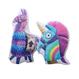 stuffed animal cushion Coupons - Fortnite plush dolls 50CM 20inch Pillows Unicorn Horse Soft Stuffed Animal Cartoon Action Figure Toys Home Cushion C5028