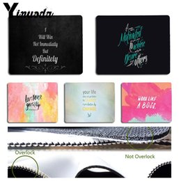 Yinuoda Proverbio Frase Motto Motivazione Parola Tastiera Gaming Mouse per PC Dimensioni per 18x22cm 25x29cm Piccolo Mousepad da
