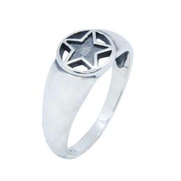 59009288d68a Al por mayor pentagrama plata 925 online - RanyRoy nuevo diseño 925  Sterling Silver Star Ring