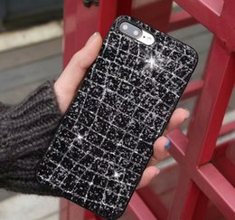 Wholesale Diamond Pattern Iphone Case - New Pattern Diamond mobile case TPU material Case mobile back cover for Iphone X 8 7 6