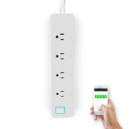 Wholesale Power Plug Timer - Smart Power Strip Wall Socket Intelligent 4 Ports Plug Socket Wifi Remote Control Socket Adapter Timer Switch Via phone US Plug
