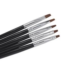 Wholesale Professional Nail Brush Set - Wholesale- 5 Sizes Professional Acrylic Nail Art Brush Set Perfect Use For UV Gel Builder Nal Brushes + Free Shipping
