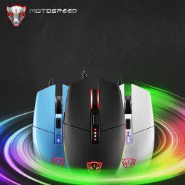 Wholesale Lol Led - 2018 Hot sale New Motospeed V50 4000DPI 6 Buttons Breathing LED Optical Wired Gaming Mouse ergonomic deign for LOL DOTA