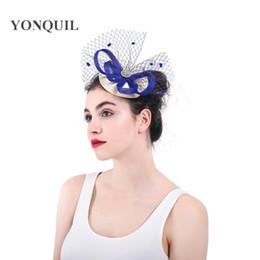 Argentina Hair party sombreros velos casado fascintors elegante nupcial malla accesorios para el cabello clips wedding headwear royal headfe SYF318 cheap royal veils Suministro