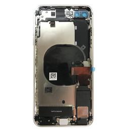 cámara de la casa blanca Rebajas Tapa de la batería para iPhone 8P 8 Plus 8G Cubierta trasera posterior Batería Carcasa completa Chasis de la puerta Marco intermedio
