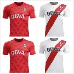 Wholesale Football Bedding - Top thai quality River bed adult football shirts 17 18 SANCHEZ VALDIVIA MEDEL VIDAL ALEXIS jersey 2018 CA River Plate soccer jerseys