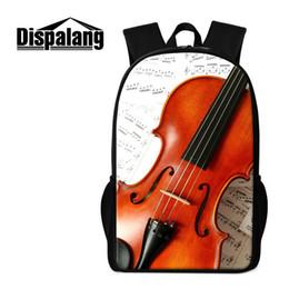 Wholesale Violin Brands - Brand Designer Backpacks Violin Pattern Fashion Women Lady Rucksack Children School Bags Tactical Mochila Bookbags For Teens Travel Bagpacks