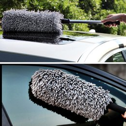 Wholesale Car Duster Case - Microfiber Car Duster Auto Vehicle Retractable Dirt Dust Clean Care Brushes Adjustable Long Home Office Ash Sweep Remover