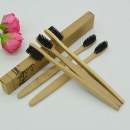 Wholesale Toothbrush Wholesale China - Bamboo Toothbrushes Nylon Bristles Manual Toothbrushes Tooth Brush Disposable Toothbrushes Made in China With Retail Box CCA8461 100pcs
