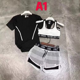 17fe5a2a0e New Fashion Tracksuit Women Summer Sport Wear Cotton Yoga Suit Fitness Bra Shorts  Gym Top Vest Pants Running Underwear 3Sets Runner Outfits woman wearing ...