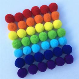 apprendimento del telefono Sconti 8/10/15/20/25 / 30mm mix arcobaleno di colore pompon palla di pelo peluche palle per il bambino giocattoli di apprendimento precoce del panno accessori del telefono