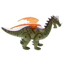электрическое крыло rc Скидка Электрический игрушка робот звук динозавр ж / Крылья свет перемещение животных Рождественский подарок игрушки для детей Kid мальчиков 697 RC животных