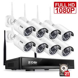 Canada ZOSI 8CH CCTV Système Sans Fil 1080P HD NVR 8 PCS 2.0MP IR Extérieur Étanche P2P Wifi Sécurité Caméra Système de Surveillance Kit Offre