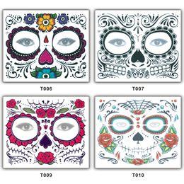 2018 Nouveau Halloween Tatouage Visage Temporaire Tatouages Halloween Costume Cosplay Fête Maquillage Corps Art Livraison Gratuite ? partir de fabricateur