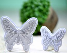 Gros-2 PCS / lot papillon Forme Moule Cutter Fondant Gâteau Décoration Outil Cookie Sucre Artisanat ? partir de fabricateur