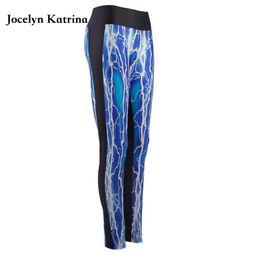 Spandex de impressão colorido on-line-2017 de alta qualidade feminino graffiti impresso compressão leggings ginásio mulheres colorido yoga pants alta elástica calças esportivas