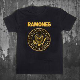 2019 marche di abbigliamento rock NUOVO! Maglietta da uomo T-shirt nera da uomo di RAMONES PUNK ROCK T-shirt da uomo S-2XL Grande formato: T-shirt stampata S-Xxl 2018 Fashion Brand Camisa marche di abbigliamento rock economici