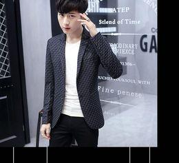 2019 koreanische jugendkleidung Neue Artmännerkleidung im Frühling und Herbstflut kultivieren irgendjemandes moralische Charakterlüge Brache-Western-Art Kleidung Mantel Korean Youth @ 02 günstig koreanische jugendkleidung