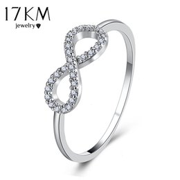 Wholesale Infinite Gifts - whole sale17KM Brand New Infinite Rings For Women Vintage Crystal Cubic Zirconia Ring Party Wedding Engagement Jewelry Gift