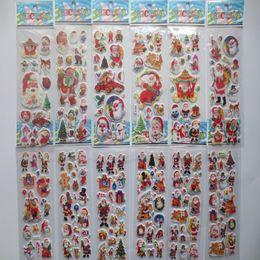 12 стиль Рождество Санта-Клаус наклейки для детей детей детский день chirstmas подарки от