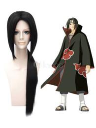 Wholesale Gemstone Heating - Naruto Uchiha Itachi Heat-resistant Fiber Black Cosplay Wig Hair Free Shipping