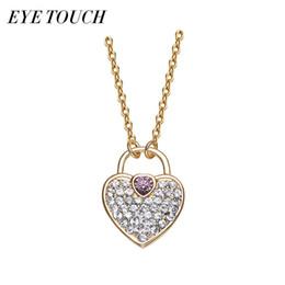 Wholesale Swarovski Shape - wholesale EYE TOUCH Crystals From Swarovski Fashion Luxury Heart Shape Jewelry Chic Pendants Women Necklace Halsband. Elegant Retro New