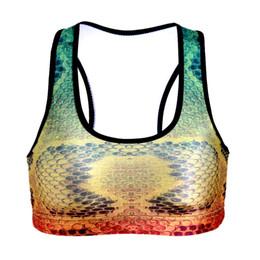 3 модели новое прибытие змея Pattern Спорт работает культур топы плюс размер 3D Медузы печатных синий красный бег бюстгальтер с Pad S до L cheap snake bra от Поставщики бюстгальтер змейки