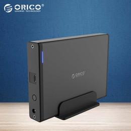 2019 cassa esterna hdd 3,5 sata ORICO da 3.5 pollici Tipo-C USB3.1 a SATA3.0 Custodia esterna HDD SSD Disco rigido Contenitore per disco Scatola di memoria da 5 GBPS staccabile 8 TB cassa esterna hdd 3,5 sata economici