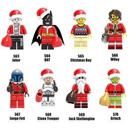Wholesale Jack Skellington Wholesale - Christmas Series Minifig Mix Lot Christmas Boy Joker Wiley Jango Fett Jack Skellington Figure X0154 Minifig Mini Building Blocks Figures