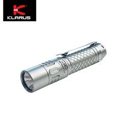 2019 aa batería cree led Klarus Mi7 Ti 700lumens CREE LED Titanio EDC Linterna con batería AA aa batería cree led baratos
