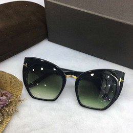 mod occhiali da sole donne Sconti Designer Donna SAMANTHA Shinny Nero CROPPED CAT EYE Occhiali da sole MOD 553 Fashion Brand Sunglasses New with Box
