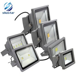 Wholesale Led Light Flood - DHL 10W 20W 30W 50W 100W 150W 200W LED flood light spotlight projection lamp Advertisement Signs lamp Waterproof outdoor floodlight
