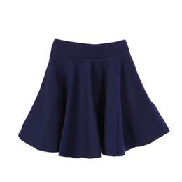 Wholesale Ladies Yellow Mini Skirts - Skirts Womens Ladies High Elastic Skirt Waist Cotton Pleated Mini Short Skirt OL Slim New Sale Skirts Women