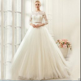 Wholesale Wedding Gowns Size 18 - New White ivory Wedding dress Bridal Gown custom size 6-8-10-12-14-16 18++
