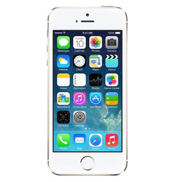 Wholesale A7 4g - Original Apple iPhone 5S 16GB Touch ID 4G LTE iOS 8.0 4.0 inch Retina Screen Dual Core A7 GPS Fingerprint Scanner Refurbished Smartphone