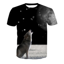 t shirts men full print Coupons - Men T-shirt Wolf 3D Full Print Man Casual Tops Unisex Short Sleeves Digital Graphic Tee Shirt Tees T-Shirts Blouse (RLT-4086)