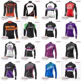 giacche da ciclismo invernale Sconti KTM ORBEA team Cycling Winter Thermal Fleece jersey donna jersey mountain bike giacche abbigliamento antivento traspirante D2022