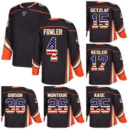 Custom Mens Momens Kids Anaheim Ducks 15 Ryan Getzlaf 17 Ryan Kesler 25  Ondrej Kase 26 Brandon Montour Gibson USA Flag Ice Hockey Jerseys ff5c12d28