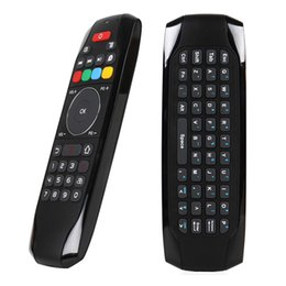 Wholesale learning rf remote control - G7 2.4GHz Fly Air Mouse Wireless Keyboard Remote Control RF Mini Keyboard with IR Learning Function for Android TV Box HTPC