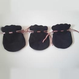 2019 bolsos del favor de borgoña Probar 20 unids bolso de la bolsa de terciopelo negro rosa para Pandora Charm Bead Necklace Earrings anillo colgante de joyería de empaquetado de la nueva llegada