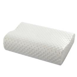 Wholesale Latex Cervical Pillow - 2017 New Orthopedic Neck Pillow Fiber Slow Rebound Memory Foam Orthopedic Latex Neck Pillow Bedding Cervical Health Care
