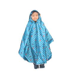 Wholesale Rain Ponchos For Kids - Kids Poncho Rain Coat for Children Hooded Waterproof Unisex Raincoat