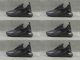 Wholesale green chi - 2018 bu qin quan ni men chi shen me All white black Flyair 270 men women outdoor Training Running sneakers air270 shoes 36 45