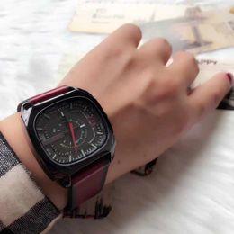 Wholesale Titanium Dress Watches - New Fashion Womens Dress Wristwatch Casual Square Leather Strap Luxury Lady Quartz Watch Free Shipping